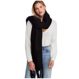 Free People MWT Jaden Ribbed Oversized Scarf